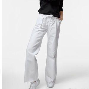 J Brand The Waist High Waist Wide Leg Raw Hem Jean